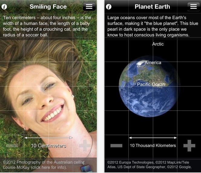 Cosmic eye app