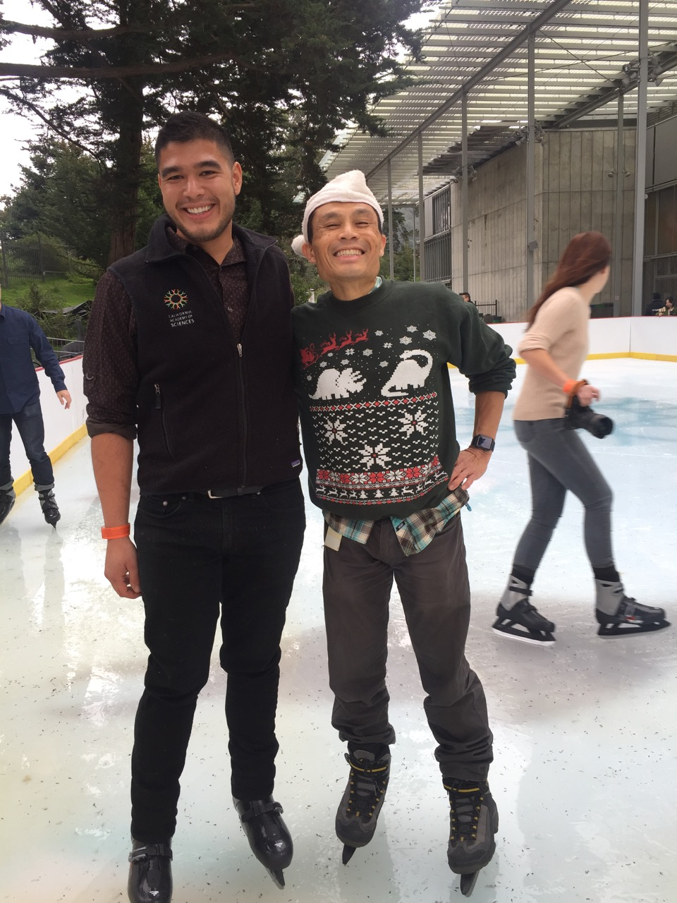 Rik and Dennis on ice