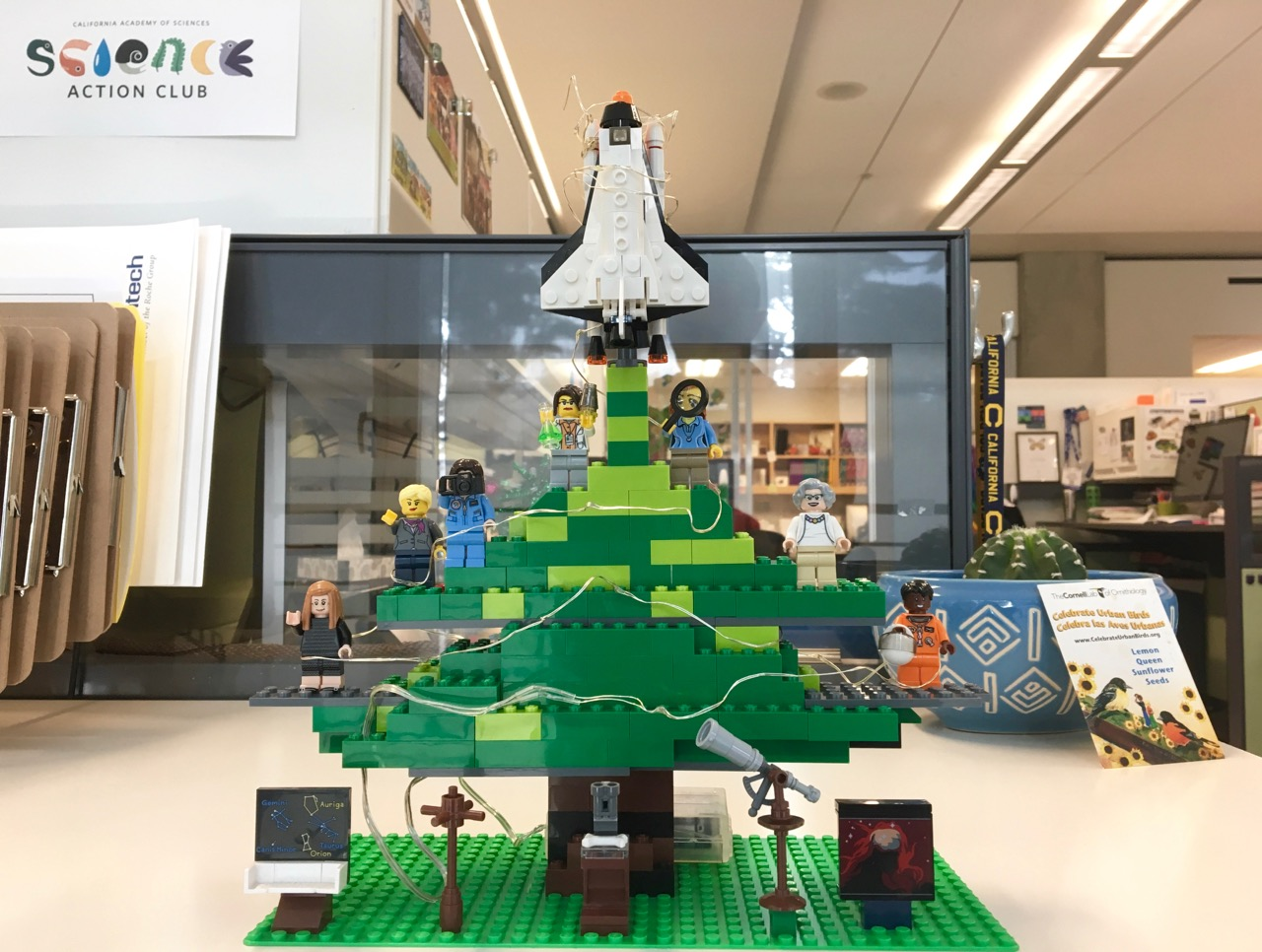 Women of science holiday tree