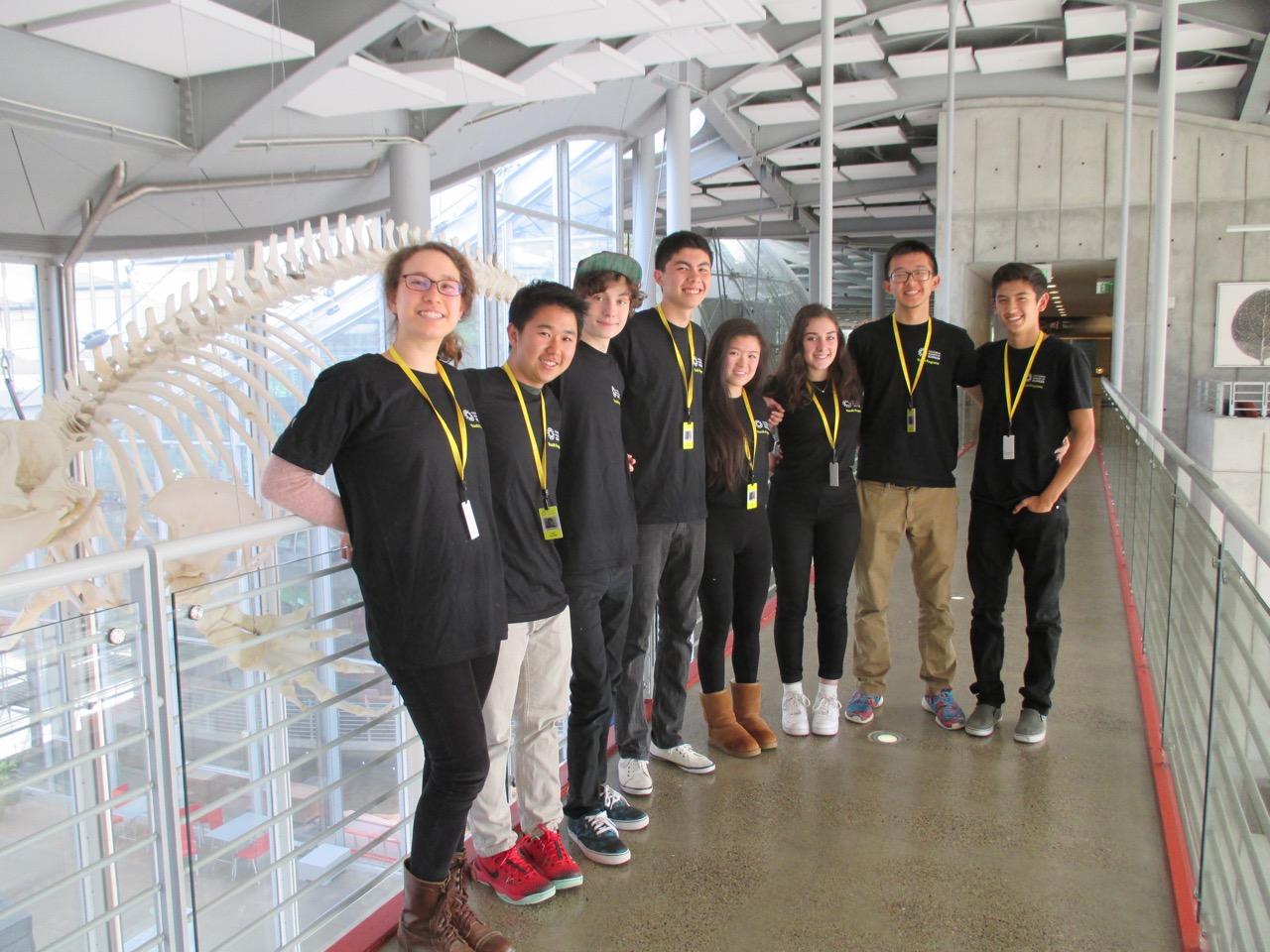 News team on the catwalk