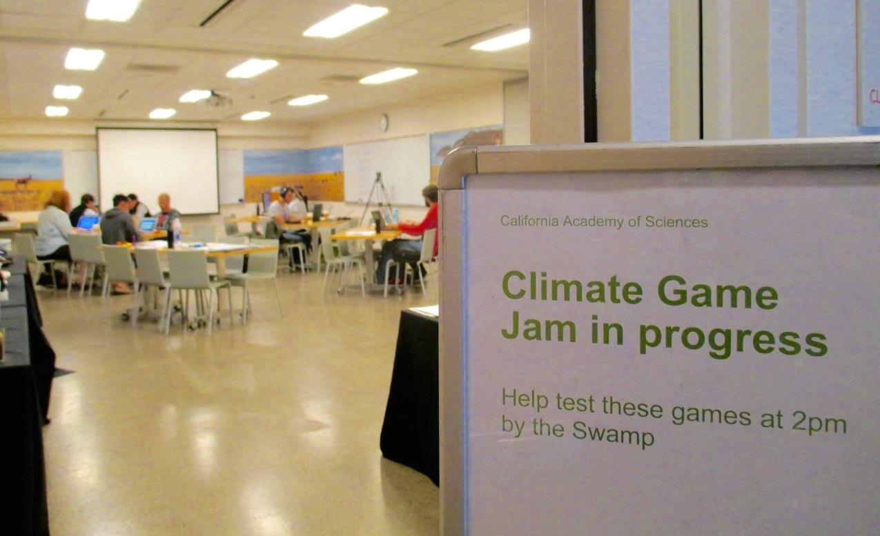 Climate Game Jam in Progress