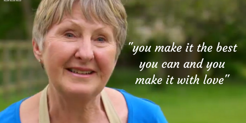You make it with love gbbo